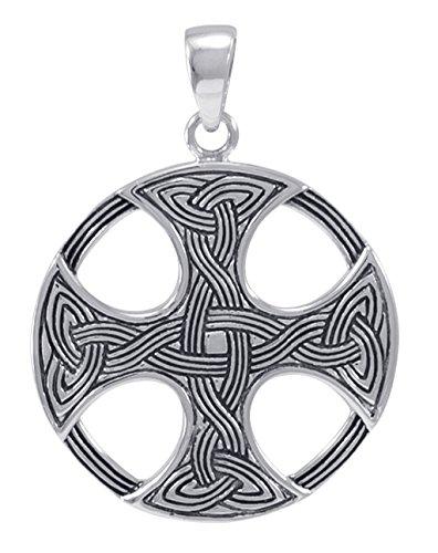 Alterras - Anhänger: Keltisches Kreuz rund aus 925-Silber