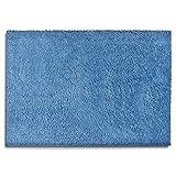 Sky Badematte Uni - Größe wählbar - 95cm rund, Blue - Öko-Tex 100 zertifiziert