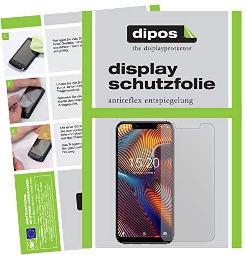 dipos I 2X Schutzfolie matt passend für Umidigi A3 Pro (2018) Folie Bildschirmschutzfolie