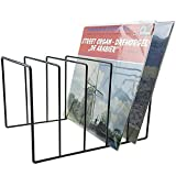 #8: Record-Happy Vinyl Record Storage Holder Stand - Vinyl Coated Metal Wire Rack Holds up to 50 Album Lp's - Premium Display, Simple and Contemporary Concept Design for 12' Records