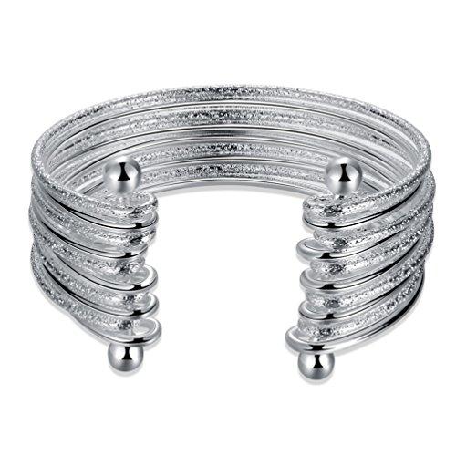 HMILYDYK Bracelet jonc en argent, bijou pour femme et petites filles
