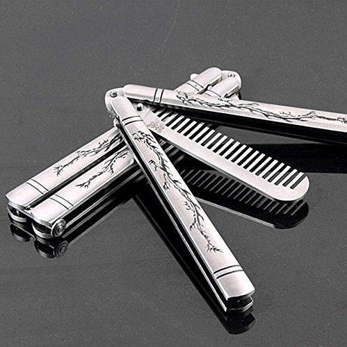 Buwico® Zarte Edelstahl faltbar Training Schmetterling Praxis Style Messer Kamm