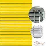 Dekologi Aluminium Jalousie 30 x 120 cm (Breite x Höhe) - Lamellenfarbe 1206 sonnengelb gelb//Maßanfertigung Alu Jalousien Jalousette Rollo Plissee