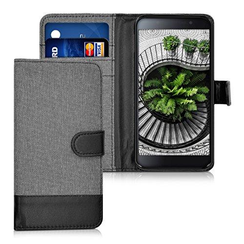 kwmobile BlackBerry DTEK50 Hülle - Kunstleder Wallet Case für BlackBerry DTEK50 mit Kartenfächern und Stand