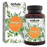 Capsule di Omega 3 con Olio di Pesce 1000mg - 500 mg EPA e 250 mg DHA per Cuore e Cervello Sani* - Acidi Grassi Essenziali Omega 3 - Acciughe da Allevamento Biologico - Testato e Prodotto in Germania