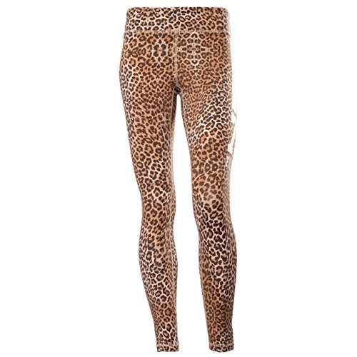 Fred Perry, Leggings de Sport Femme Multicolore (Leopardato)