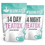 Burnfatea 14 Day Teatox Skin Detox - Healthy Clear Skin, Weight Loss Tea, Nourish Problem Skin, Detox Tea, Delicious & Laxative Free