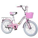 Kinder Fahrrad,Falten Mädchen Princess Schüler 18 20 22-Zoll-Rosa 49.2inch