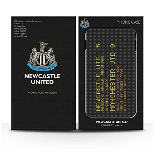 Officiel Newcastle United FC Coque / Clipser Brillant Etui pour Apple iPhone 7 / 2010 Design / NUFC Résultat Football Célèbre Collection 1996