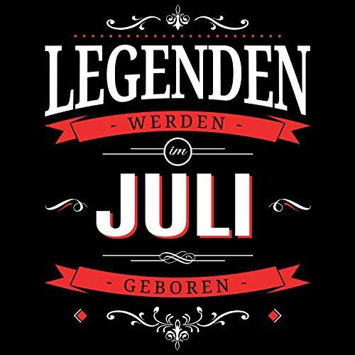 Fashionalarm Damen T-Shirt - Legenden werden im Juli geboren | Fun Shirt mit Spruch als Geburtstag Geschenk Idee Schwarz