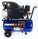 CRAMP Druckluft Kompressor 1500W 2 PS max 8 bar 24 Liter Tank mobil rollbar