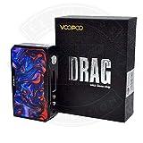 VOOPOO DRAG 157W Box Mod Vapor E-Cigarrillo/Smart OLED Indicador TC/VW Modo Electrónico Batería de Cigarrillo No Líquido No 18650 Batería (Azure, Black Frame)