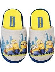 Pantuflas–Zapatillas de Interior para niño los Minions gris/amarillo del 27al 34
