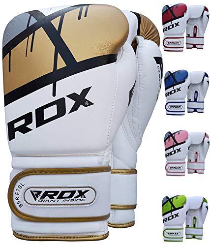 RDX Guantoni Boxe Ego Muay Thai Guanti da Sacco Sparring Allenamento Kickboxing Pelle Maya Hide Pugilato Boxing Gloves
