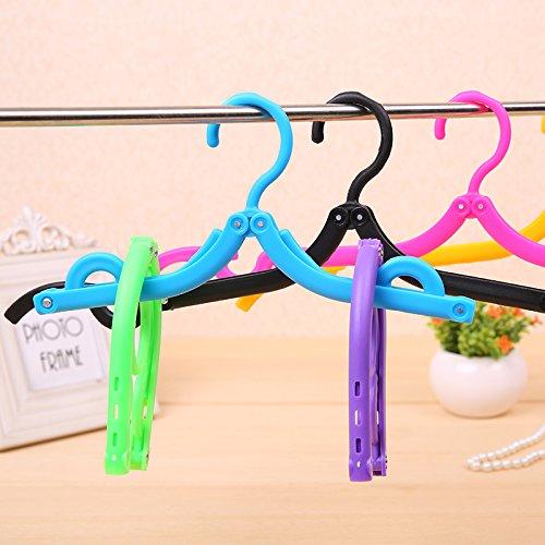 MZP Reisen auf Geschäftsreisen Aufhänger magische Aufhänger Aufhänger portable Faltung Kunststoff rutschfeste Trockengestelle , random color