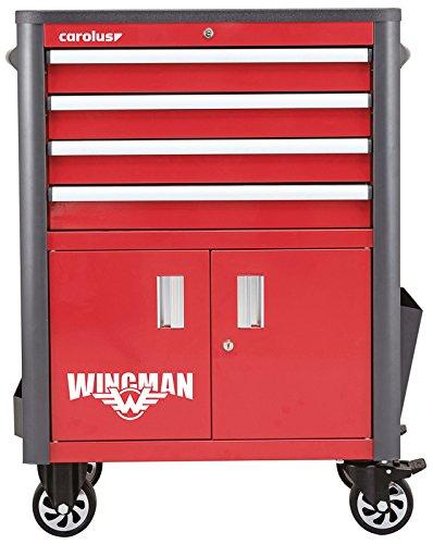 CAROLUS Werkstattwagen Wingman, 4 Schubladen, rot/anthrazit, 1 Stück, 2054.10