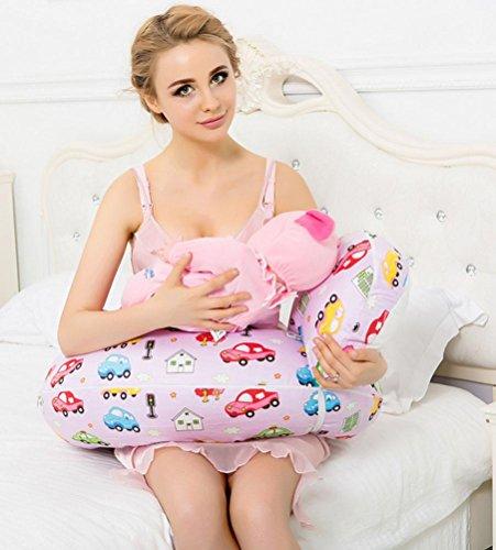 GxNI Femmes enceintes Oreiller, Soin Multi-fonctionnel oreiller, Mère soutien après les soins une main allaitement Soins bébé sein oreiller