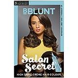 BBLUNT Salon Secret High Shine Creme Hair Colour - Dark Brown 3, 100g (Free Shine Tonic, 8ml)