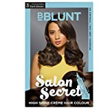 #7: BBLUNT Salon Secret High Shine Creme Hair Colour, Dark Brown 3, 100g with Shine Tonic, 8ml