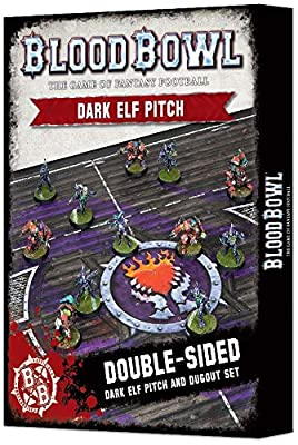 Warhammer Blood Bowl Blood Bowl Dark Elf Pitch & Dugout