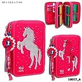 Miss Melody 3-fach Federtasche, Streichpaillette Pink Pferd *NEU*OVP*