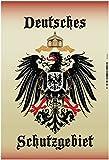 Deutsches Schutzgebiet wappen mit adler, schild aus blech, tin sign,