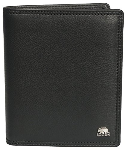 Brown Bear, Geldbörse Herren Leder Farbe schwarz, 17 Fächer, BB CLASSIC 8001 bk