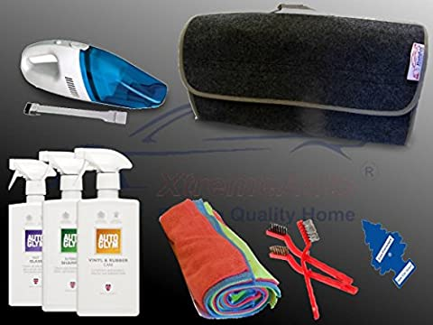 XtremeAuto® AUTOGLYM EXPERT CAR INTERIOR/SEAT CLEANING KIT SET, with 12V Vacuum Cleaner: Car, Taxi, Bus. (Cloth Interior Kit #2) FREE AIR FRESHENER!