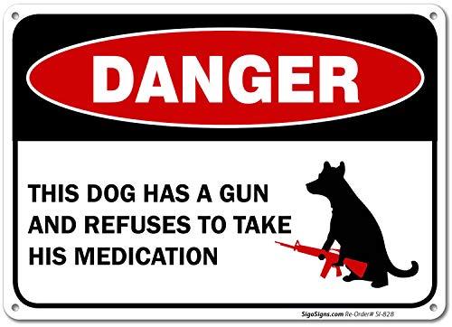El Perro Tiene una pistola y se niega a tomar su medicación...
