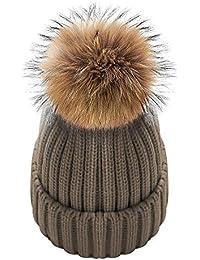 Amazon.es  gorros de lana con pompon - Gorros de punto   Sombreros y ... 9addac768da