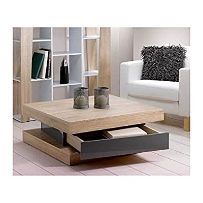 Fixy Coffee Table Décor Chene High-Gloss Grey 80 CM produced by AUCUNE - quick delivery from UK.