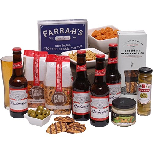 Best Bud Beer Hamper - Food & Beer Gifts For Him - Birthday Hampers & Mens Gifts