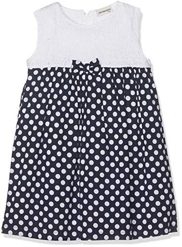 SALT AND PEPPER Baby-Mädchen Kleid B Dress Punkte Navy/White Mehrfarbig (Original 099) 80 (Kinder Navy Kleid)