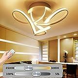 Kreativ LED Deckenleuchte Wohnzimmerlampe Moderne Kunst Designer-Lampe Metall Acryl geschwungener Optik Decke Leuchte Deckenlampe Innenraumlampe Dekorativ Beleuchtung Schlafzimmer Küche Dimmbar 48W