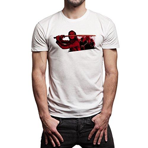Pulp Fiction Ouentin Tarantino Movie Blood Sword Herren T-Shirt Weiß