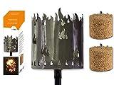 Fackel Gartenfackel Flammen 140 cm Feuerschale Metall
