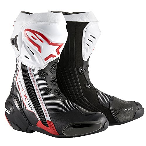 Alpinestars Supertech R New Black white Red EU44 Motorcycle Motorbike Boots