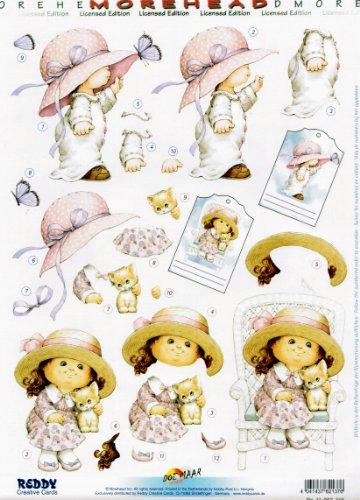 3D-Stanzbogen ca. DIN-A4 - Moreheads Sommer Mädchen (82137)