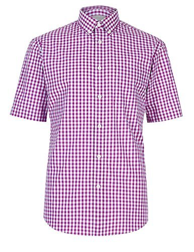 fa-m-ou-s-store-pure-cotton-gingham-checked-shirt-m-bt-violet-2731m-ll-0644