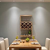 LANN Wine Cabinet Hanging Restaurant Wine Rack Lattice Suspension (Color : Light Walnut)