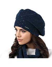 Kamea Carbonia Dame Baskenmütze Mütze Wintermütze Kopfbedeckung