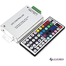 LinkSquare 44 Teclas IR Inalámbrico del Mando a Distancia + CC 12V / 24V 24A 576W IR Dimmer Controlador para Tiras de iluminación RVA (RGB) LED SMD Luz