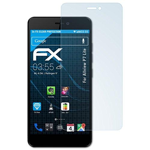 atFolix Schutzfolie kompatibel mit Allview P7 Lite Folie, ultraklare FX Bildschirmschutzfolie (3X)