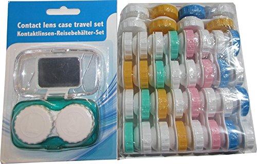 20x Kontaktlinsen Doppel-Behälter (Rechts und Links) + Reiseset