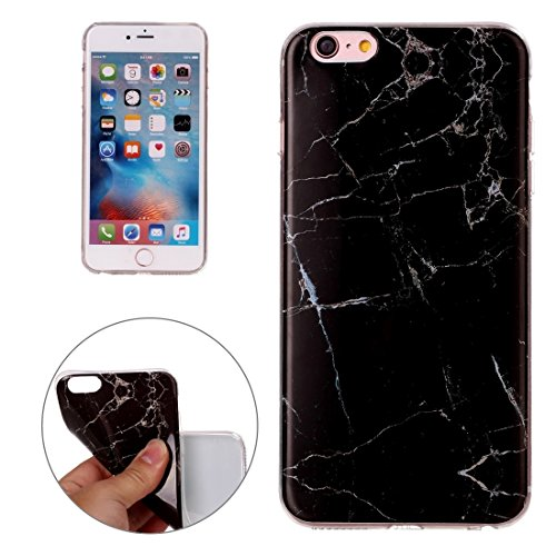 iPhone Case Cover Pour iPhone 6 & 6s Black Marbling Pattern Soft TPU Étui de protection arrière ( SKU : Ip6g0101a ) Ip6g0101a