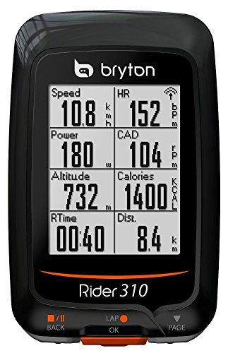 Bryton Rider 310T GPS con Cadenza e Fascia Cardio, Nero