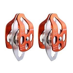 sharplace 2Stück 32kN großes Riemenscheibe Doppel-Laufrolle mit Swing Teller–CE und EN zertifiziert von Sharplace