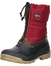 Vista Canada Polar Damen Winterstiefel Snowboots Thermo-Tex Innenschuhen Rot