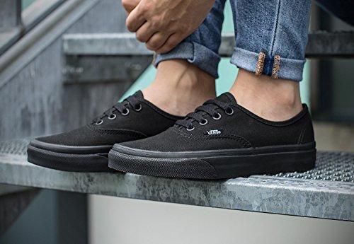 Vans Chaussures - U AUTHENTIC BLACK/BL - Taille EUR 38½ - Couleur Noir JhDpbU