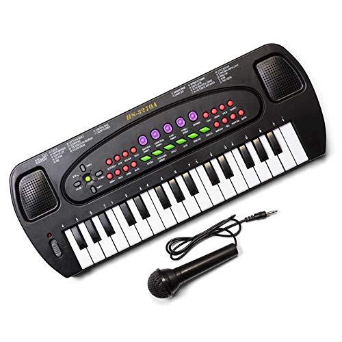 Tobar - Teclado electrónico con Karaoke y micrófono para niños (32 Teclas)
